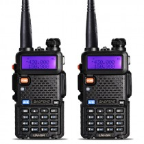 2pcs BaoFeng UV-5R Walkie Talkie Two Way Radio +2x Antenna+ 2xadpter +2 x Desktop Charger