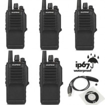 5 x Baofeng BF-9700 UHF  Waterproof Dustproof Two way Radio + USB Programming Cable