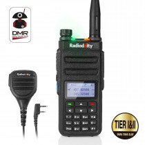 Radioddity GD-77 DMR Dual Band Dual Time Slot Two Way Radio+ Programming Cable&CD+ Waterproof Speaker Mic