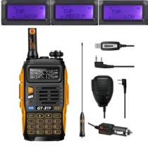 BaoFeng GT-3TP Mark III Two way Radio + Orginal Remote Speaker + Programming Cable