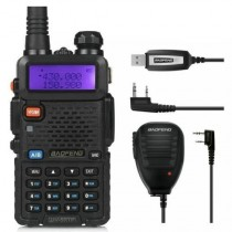 BaoFeng UV-5RTP Two-way Radio+ Orginal Remote Speaker, + Programming Cable
