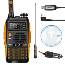 BaoFeng GT-3 Mark II Two way Radio Walkie Talkie + Programming Cable