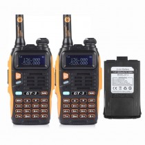 2pcs x BaoFeng GT-3 Mark II Two-way Radio + 1800mAh Battery