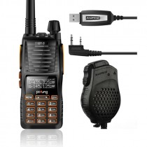 BaoFeng GT-5 Two-Way Radio, + Daul PTT Speaker, + USB Programming Cable