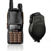 BaoFeng GT-5 Two-Way Radio, Dual Band VHF/UHF 136-174/400-520MHz, + Daul PTT Speaker