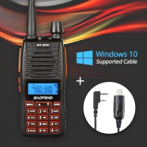 2016 BaoFeng GT-5TP Tri-Power 1/4/8W Two-Way Radio + Win 10 Programming Cable