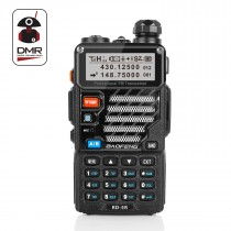 Radioddity x Baofeng RD-5R DMR Ham Amateur Two Way Radio, 136-174 /400-470MHz Dual Band Dual Time Slot Walkie Talkie 1024 Channels Tier I & II Compatible with MOTOTRBO, Free Programming Cable