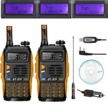2 x Baofeng GT-3TP MarkIII Two way Radio Transceiver + Programming cable