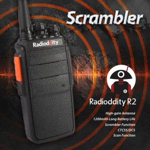 Radioddity R2 Walkie-Talkie 400-470MHz 16CH 2W 1100mHA (Stand 4-floor Fall)