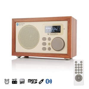 InstaBox i50 Wooden Digital Multi-Functional Speaker with Bluetooth FM Radio