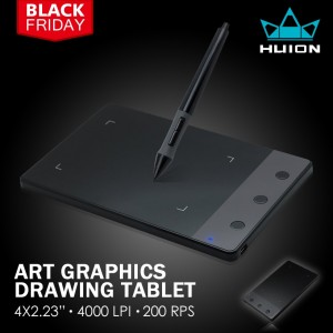 "Huion H420 Professional Art Graphics Drawing Tablet 4 x 2.23"" For Windows Mac OS"