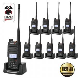 10 PCS Radioddity GD-77 DMR Dual Band Dual Time Slot Two Way Radio + Programming Cable&CD