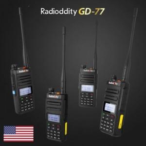 4 PCS Radioddity GD-77 DMR Dual Band Dual Time Slot Two Way Radio + Programming Cable&CD