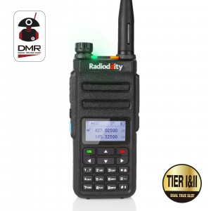 Radioddity GD-77 DMR Dual Band Digital Two Way Radio Dual Time Slot Compatible with Mototrbo Tier 1&Tier 2 with Programming Cable&CD