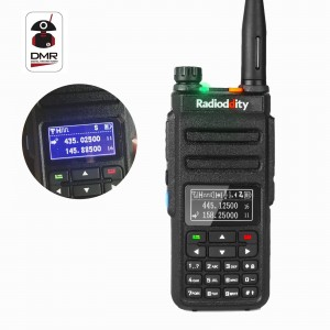 Radioddity GD-77 DMR Dual Band Digital Dual Time Slot Two Way Radio+Programming Cable&CD-China Inverted Display