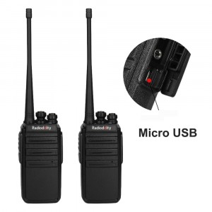 Radioddity GA-2S UHF 400-470MHz 16Channels VOX Squelch CTCSS/DCS Two way Radio [2 Pack]