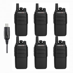 Radioddity GA-2S UHF 400-470MHz 16Channels VOX Squelch CTCSS/DCS Two way Radio [6 Pack+Cable]