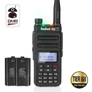 Radioddity GD-77 DMR Dual Band Digital Dual Time Slot  Two Way Radio+Programming Cable&CD + Extra Battery