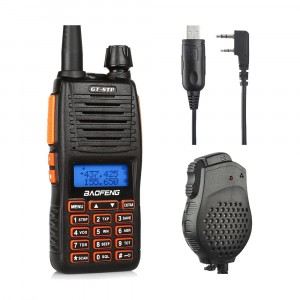 BaoFeng GT-5TP Two-Way Radio+Programming Cable Win10 +  Speaker